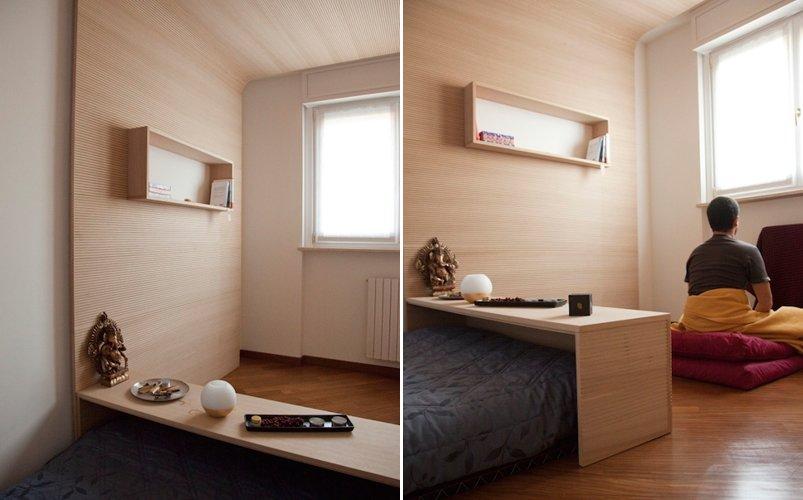 Habitaciu00f3n para meditaciu00f3n por Bianco Studio. Decoraciu00f3n del hogar.