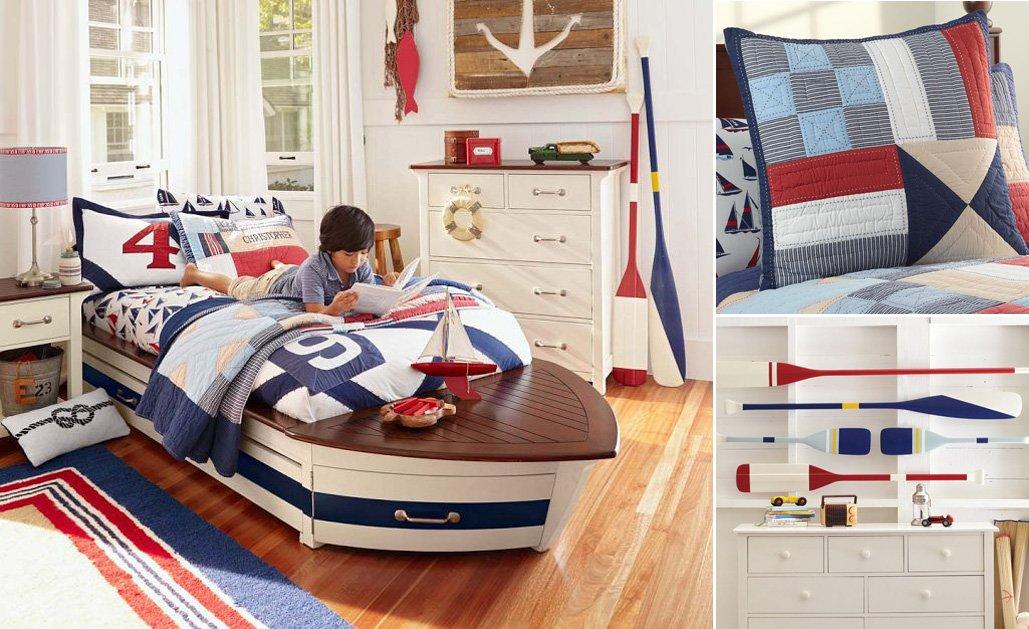 Habitaciones infantiles de estilo marinero decoraci n del for Decoracion barcos interiores