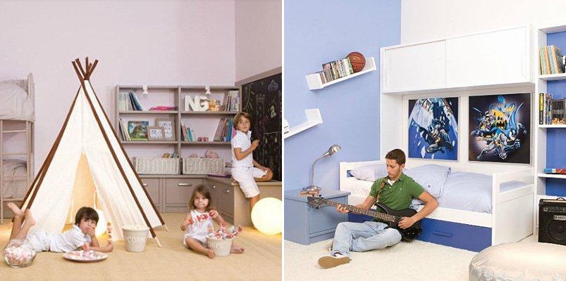 Habitaciones para ni os y adolescentes de la firma asoral - Habitaciones decoradas para ninos ...
