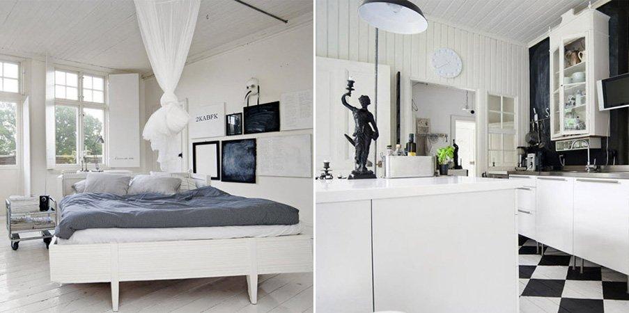Ideas para una decoraci n en blanco y negro decoraci n for Decoracion y ideas