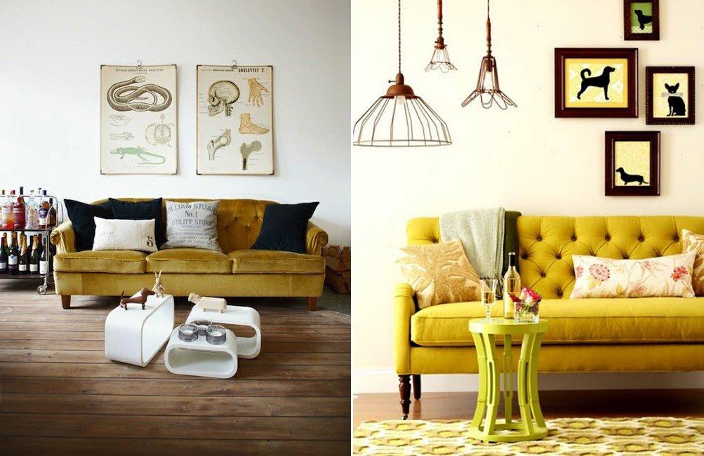 Ponle picante a tu decoraci n con el color mostaza decoraci n del hogar - Colores de sofas ...