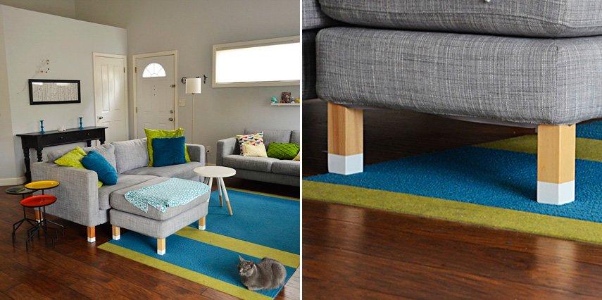 Idea decorativa personalizar las patas de nuestros sof s - Patas para sofas ...