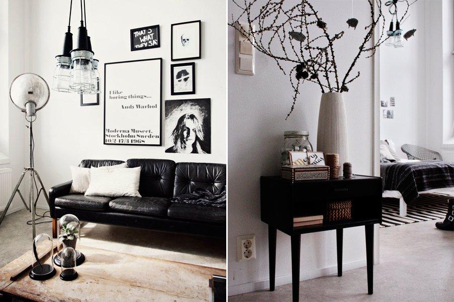 El estilo chic de una decoraci n en blanco y negro - Decoracion salon blanco y negro ...