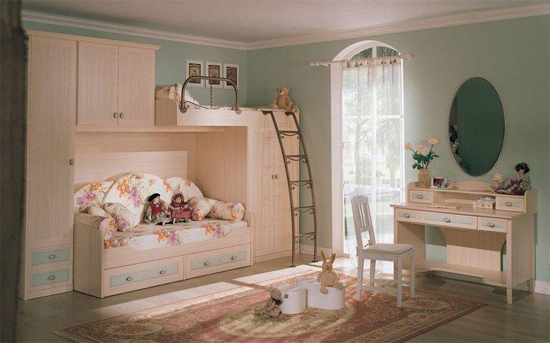 Ideas para habitaciones retro para niños. Decoración del hogar.
