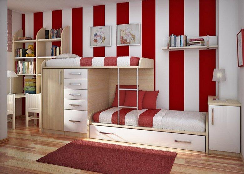 Ideas Para Habitaciones Retro Para Ninos Decoracion Del Hogar - Habitacion-retro