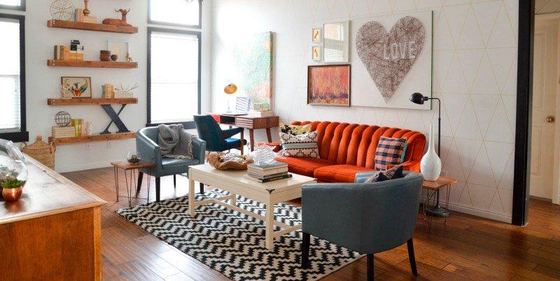 Ideas para salones de estilo vintage Decoracin del hogar