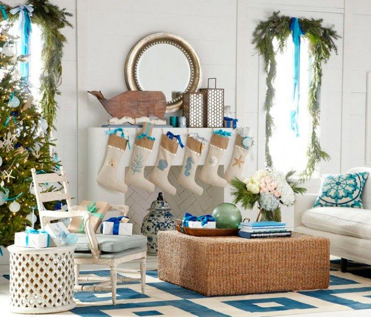 Ideas para una decoración de navidad nórdica. Decoración del hogar.