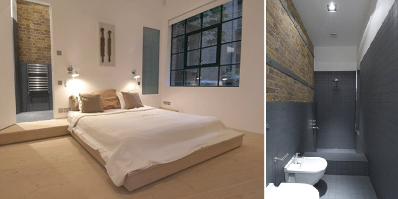 Antiguo almac n de londres convertido en un apartamento for Dormitorios minimalistas pequenos