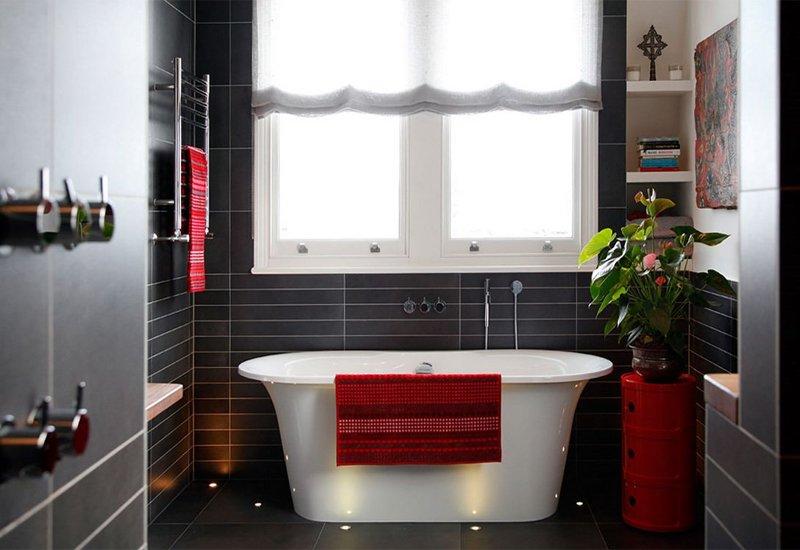 Ideas Para Decorar Baño Blanco:Ideas decorativas para un cuarto de baño en blanco y negro