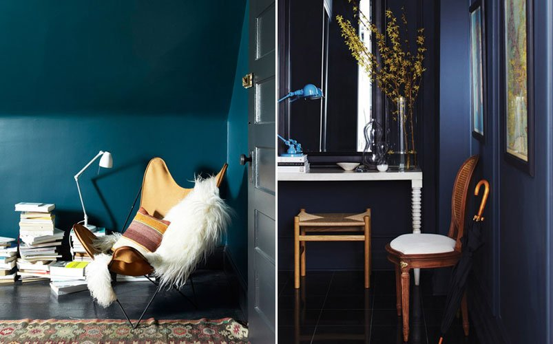 Inspiraci n para decorar las paredes con colores oscuros - Colores claros para pared ...