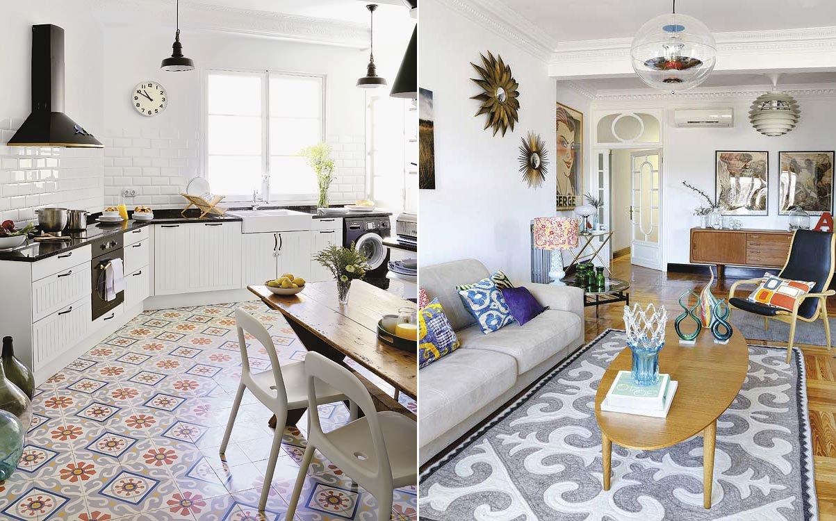 Decoraci n retro con toques modernos decoraci n del hogar - Piastrelle geometriche cucina ...