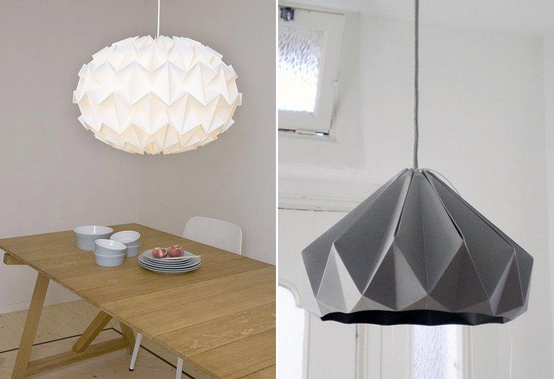 L mparas origami decoraci n del hogar for Modelos de lamparas