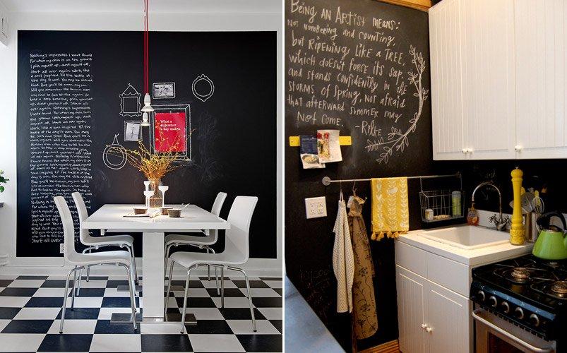 Paredes pizarra para cocinas decoraci n del hogar Decoracion paredes cocinas modernas