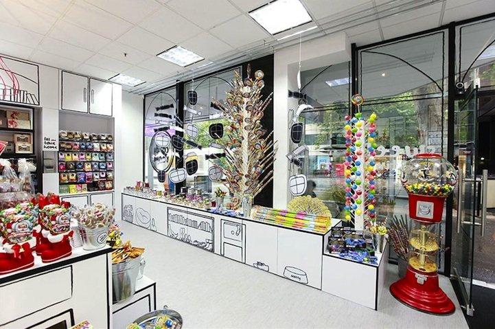 Incre ble decoraci n de una tienda de caramelos for Tiendas de decoracion de hogar
