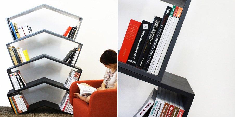 Estanter a lean la biblioteca que sujeta los libros - Estanterias de diseno para libros ...