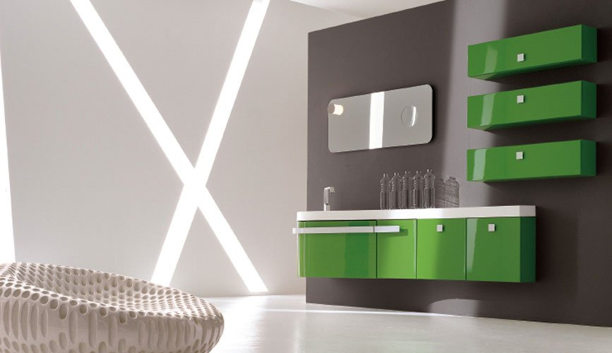 Decoracion de baño color verde ~ dikidu.com