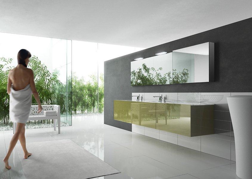 Baños Modernos Verdes: cuartos de baño: decoración en verde Colección Wall de Artelinea