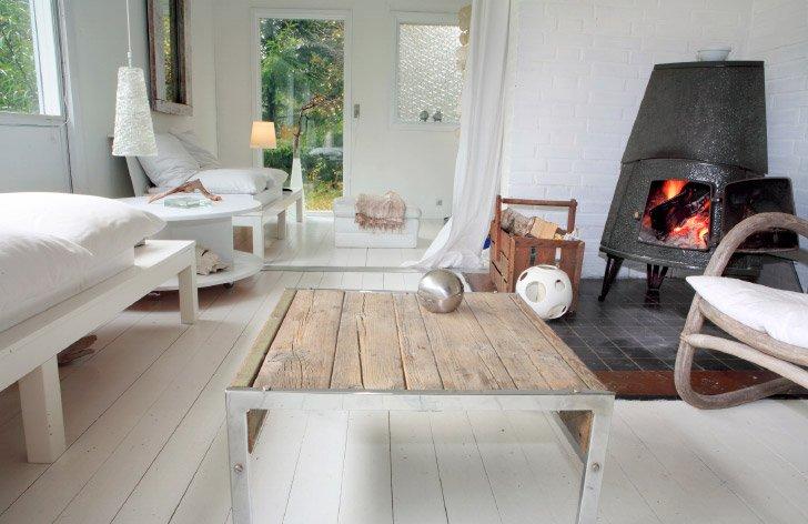 Inspiraci n para un sal n de estilo escandinavo for Decoracion hogar nordico