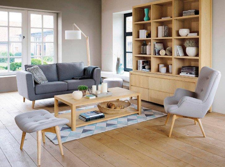 Inspiraci n para un sal n de estilo escandinavo for Muebles escandinavos online