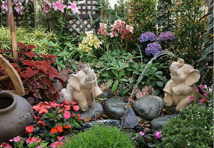 Jardín Feng Shui Decoración del hogar