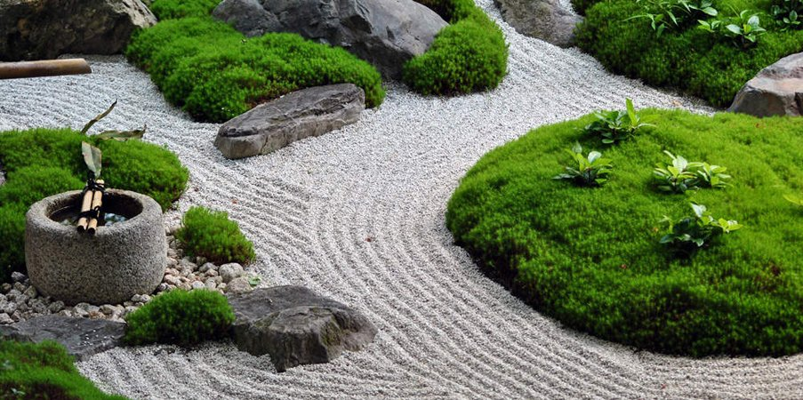 japanese zen gardens. Black Bedroom Furniture Sets. Home Design Ideas