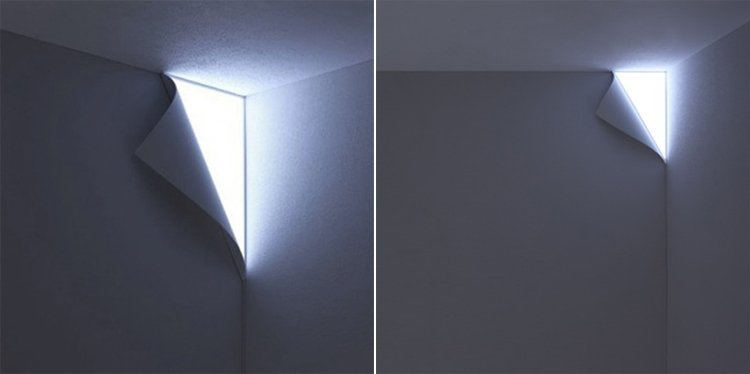 L mpara peel haz que salga luz de tus paredes decoraci n Lamparas para exteriores modernas