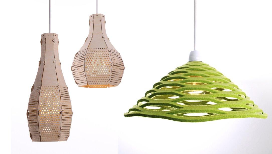 Lámparas ecológicas en la tienda Desinature. Decoración del hogar.