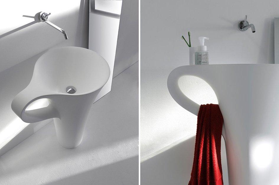 Lavabo Cup para un baño moderno. Decoración del hogar.