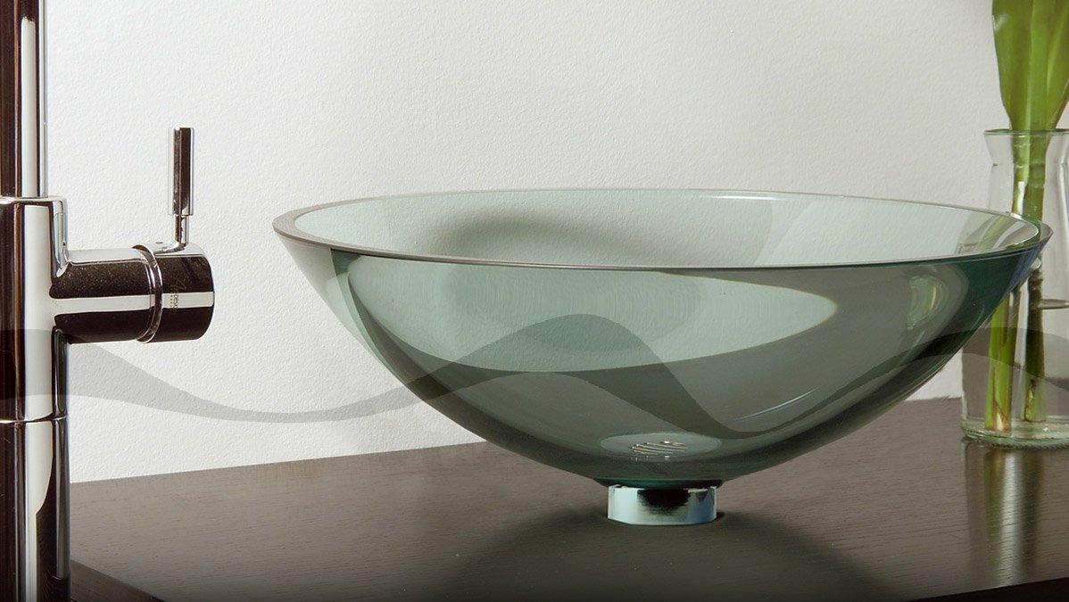 Lavabos Para Baños Cristal:Fotos de los lavabos de cristal de Cazaña Design