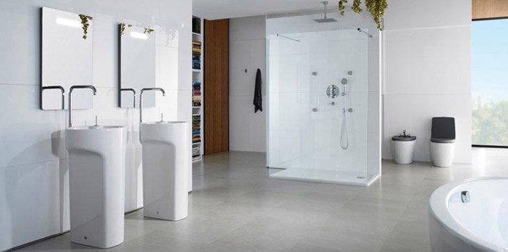 Lavabos con pedestal decoraci n del hogar for Lavabos banos modernos