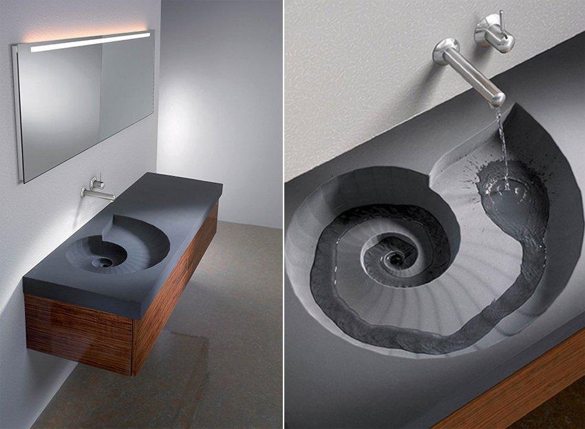 lavabos originales ammonite sink