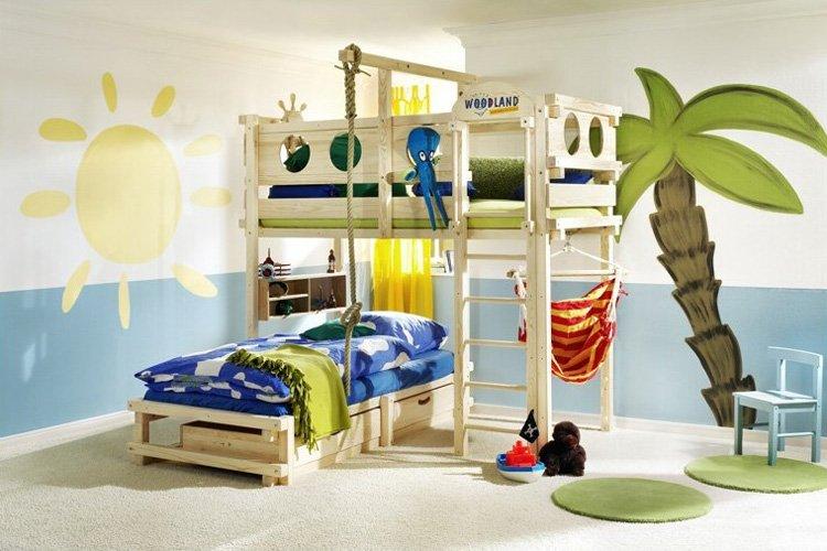 Literas divertidas para habitaciones de niños. Decoración del hogar.