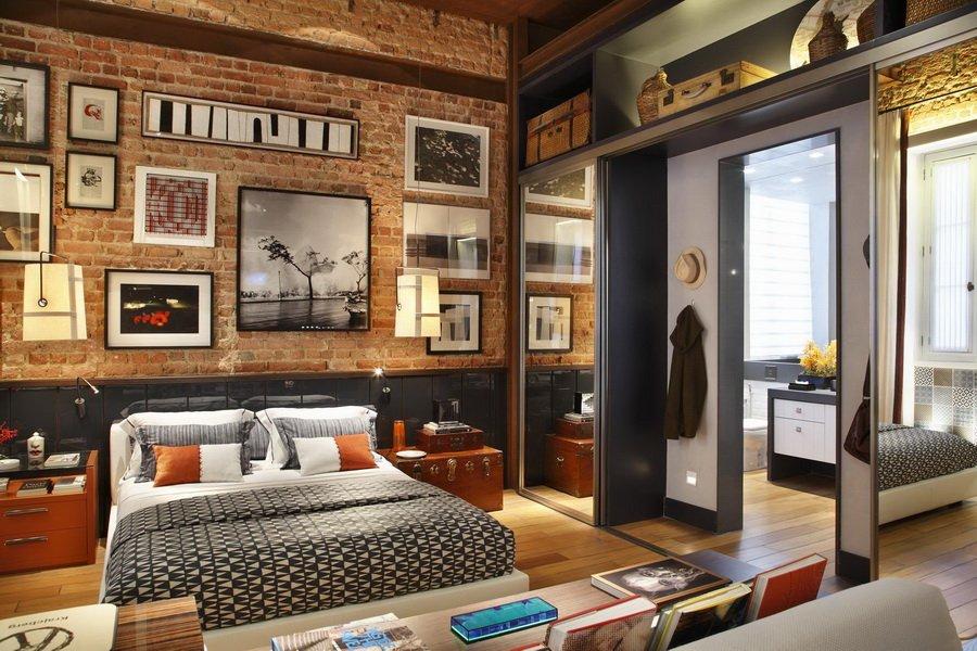Loft de diseño abierto. Decoración del hogar.