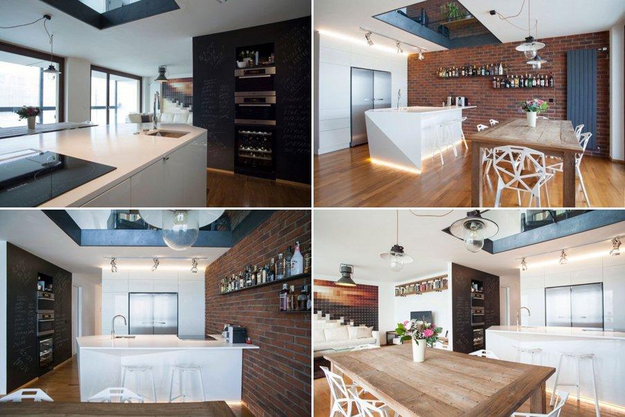 Loft de dise o moderno del estudio b2architecture for Diseno de interiores rusticos moderno