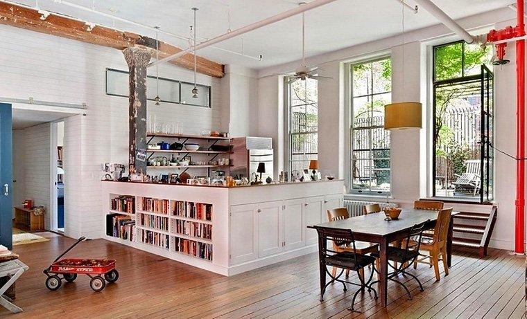 Baños Estilo Bohemio:Loft bohemio en Nueva York Decoración del hogar