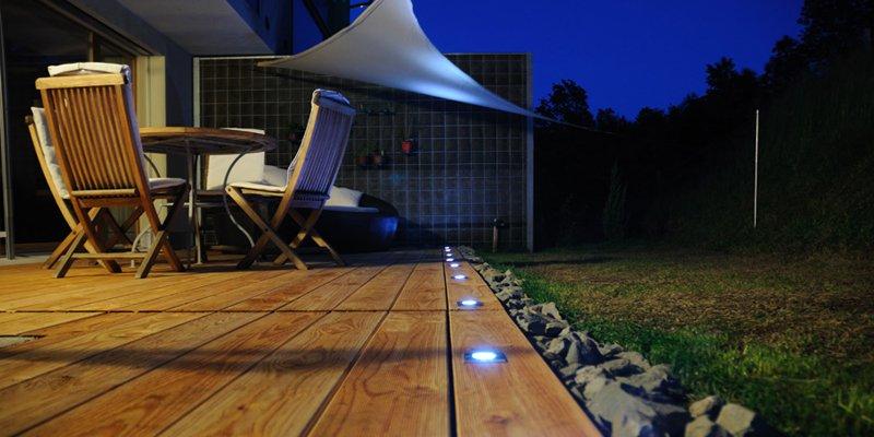 Iluminaci n del jard n decoraci n del hogar for Iluminacion terraza