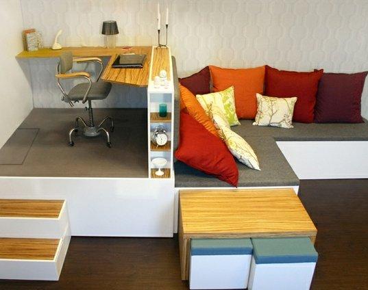 Matroshka decoraci n compacta para casas peque as for Muebles de sala espacios pequenos