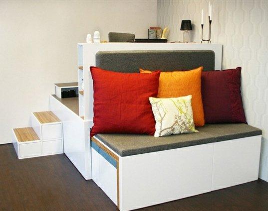 Galer a de im genes de muebles matroshka matroshka for Muebles practicos para casas pequenas
