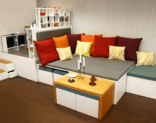Matroshka decoraci n compacta para casas peque as - Muebles para dormitorios pequenos matrimoniales ...