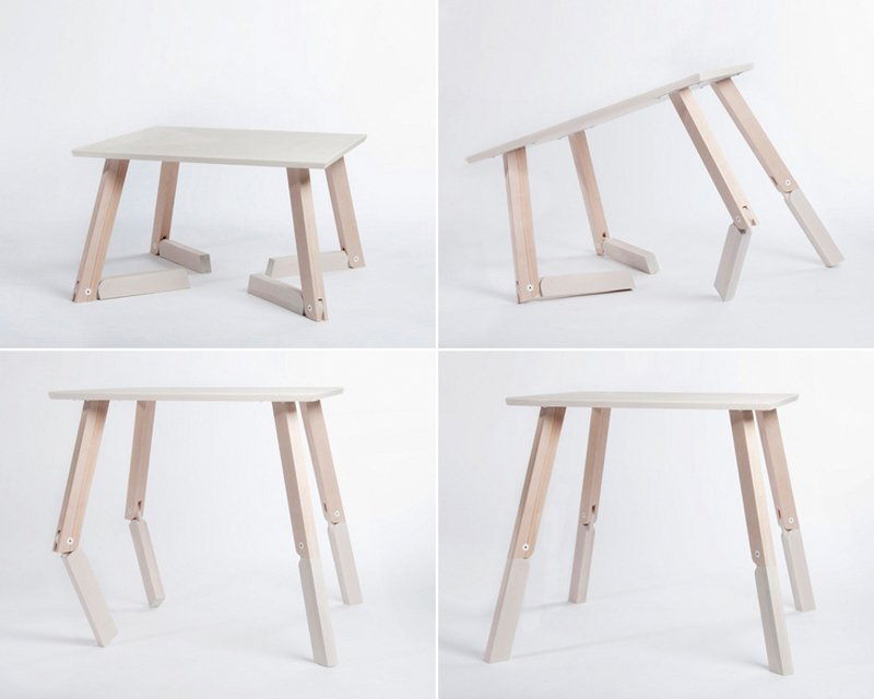 Mesa bambi la mesa plegable articulada decoraci n del hogar for Diseno de mesa plegable