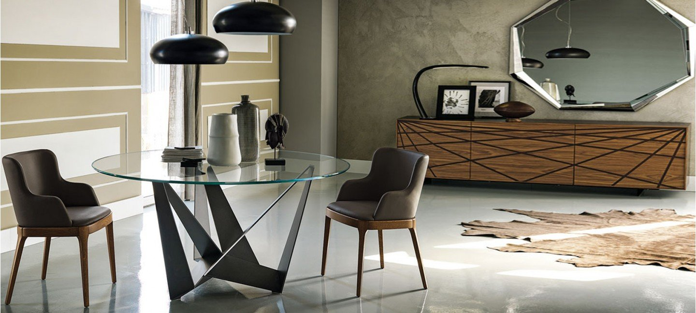 Mesas de salon redondas mesas de comedor extensibles de - Mesas de salon de cristal ...