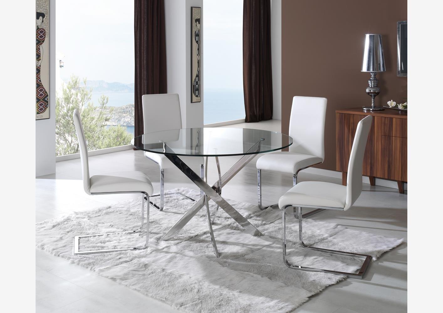10 mesas redondas de cristal para tu hogar decoraci n del - Mesa redonda de cristal ...
