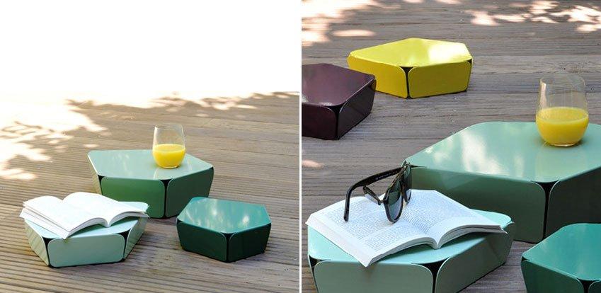 Mesas auxiliares petites rocailles decoraci n del hogar - Mesas auxiliares pequenas ...