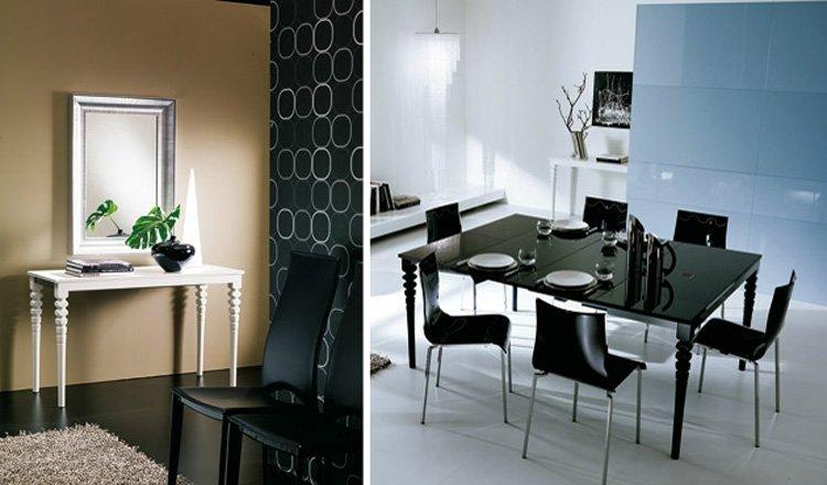 Mesas extensibles ozzio. decoración del hogar.