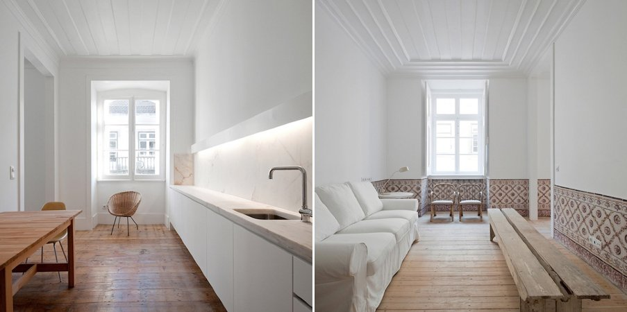 Minimalista y moderna rehabilitaci n de un edificio de for Apartamentos minimalistas