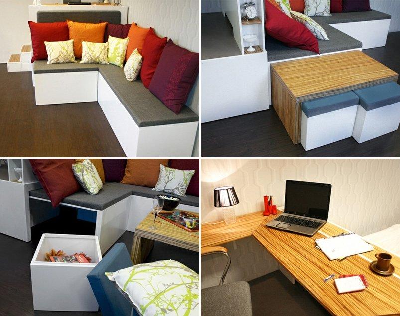 Matroshka decoraci n compacta para casas peque as for Ideas decoracion casas pequenas