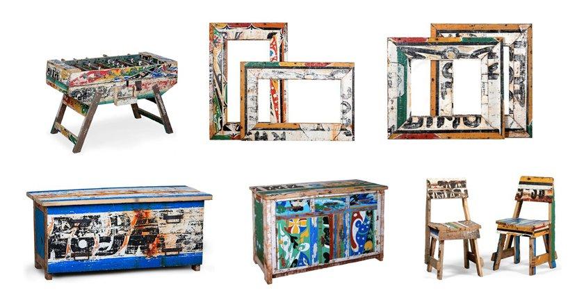 Muebles africanos de dise o reciclados de la firma for Diseno de muebles reciclados