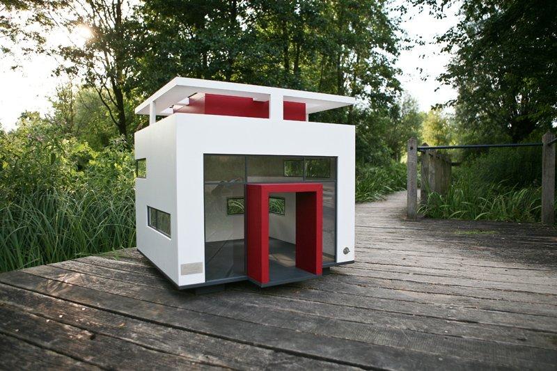 Moderna caseta para perro the cubix decoraci n del hogar - Caseta de exterior ...