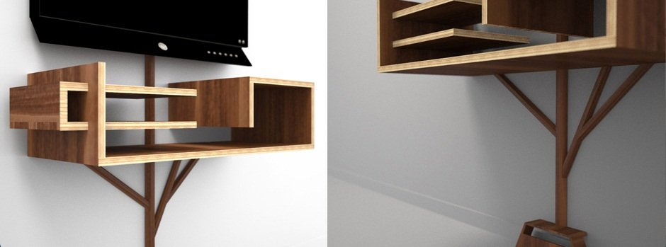 Mueble de televisi n arbre 2 0 decoraci n del hogar for Disenos de muebles para tv minimalistas