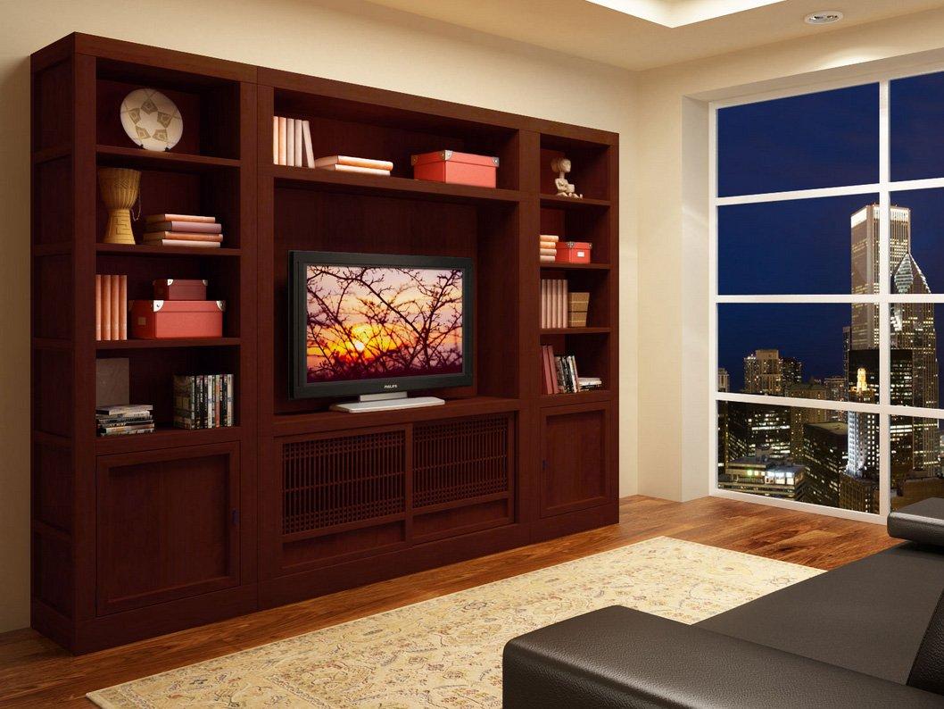 Muebles de televisi n de estilo oriental decoraci n del for Mueble para lcd 50 pulgadas